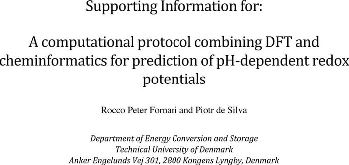 Thumbnail image of SI A computational protocol combining DFT and cheminformatics for prediction of pH-dependent redox potentials.pdf