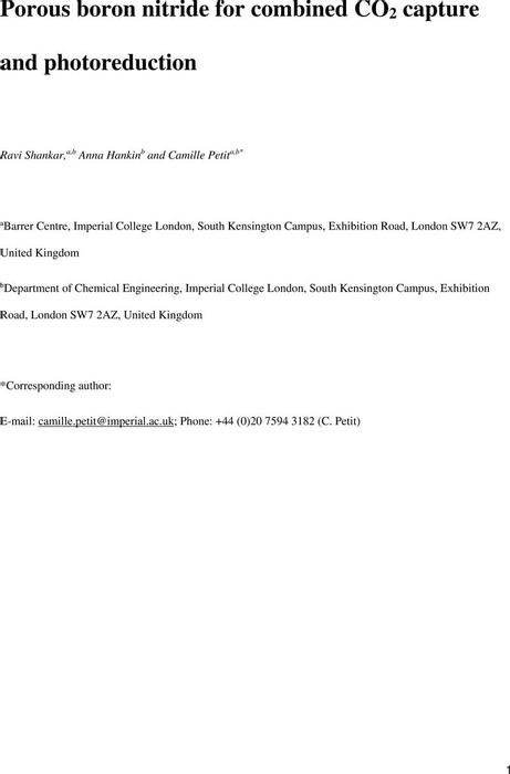 Thumbnail image of Porous boron nitride for CO2 capture and photoreduction_121018_Final_InclSI.pdf