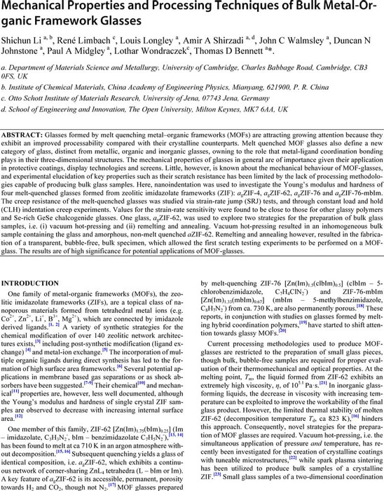 Thumbnail image of Mechanical Properties and Bulk MOF Glasses.pdf