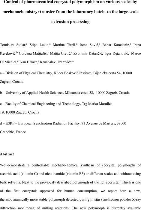 Thumbnail image of Stolar_manuscript_control of cocrystal polymorphism.pdf