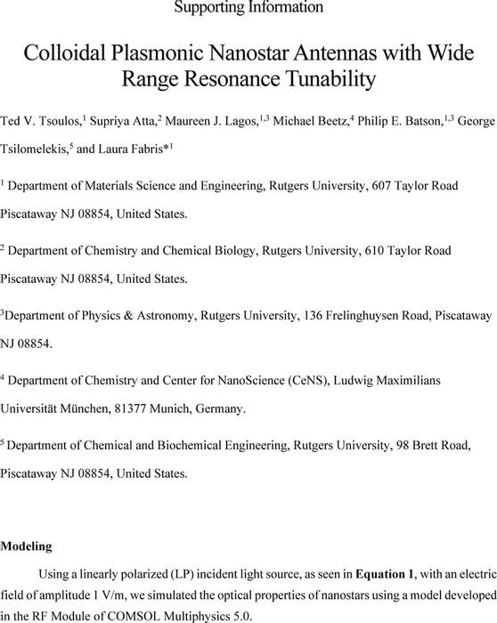 Thumbnail image of Colloidal Plasmonic Nanostar Antennas with Wide Range Resonance Tunability_SI.pdf