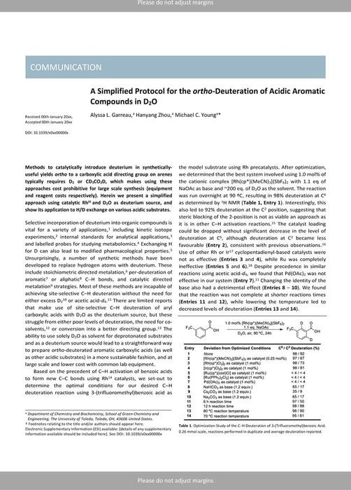 Thumbnail image of Benzoic Acid Deuteration - ChemRxiv.pdf
