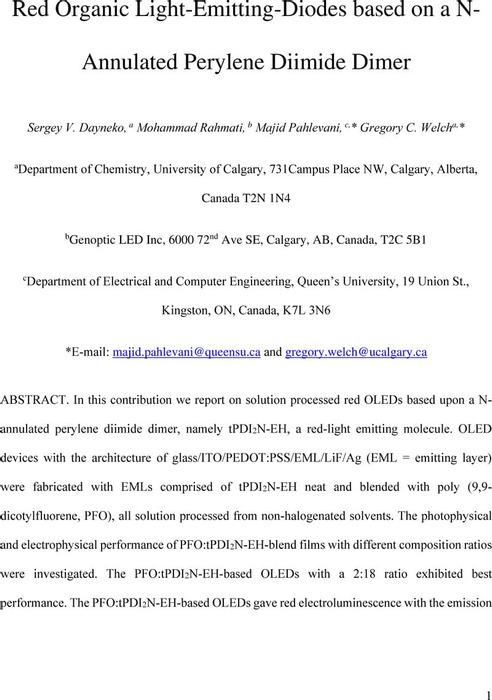 Thumbnail image of ChemRxiv - Welch - PDI OLED Emtting Layer Optimization - Final.pdf