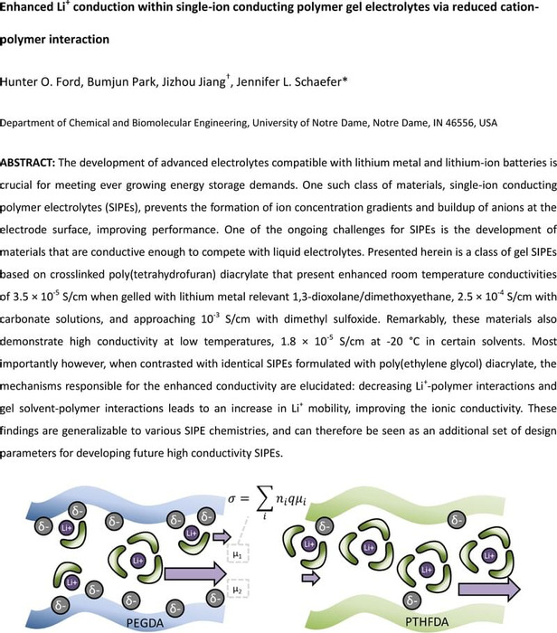 Thumbnail image of ChemRXIV Enhanced Li+ conduction within single-ion conducting crosslinked gels via reduced cation-polymer interaction.pdf