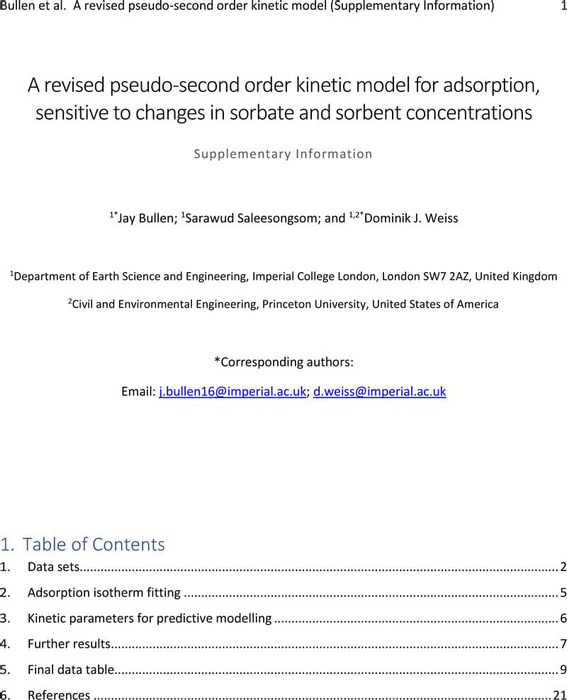 Thumbnail image of A revised pseudo-second order kinetic model for adsorption (Supplementary Information).pdf