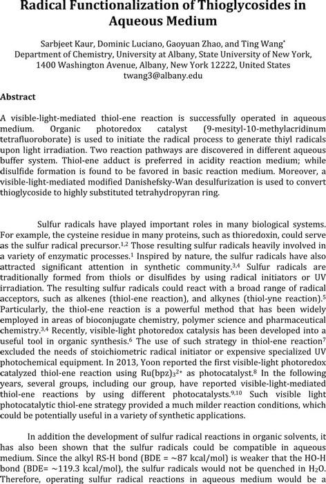 Thumbnail image of Radical Functionalization of Thioglycosides in Aqueous Medium.pdf
