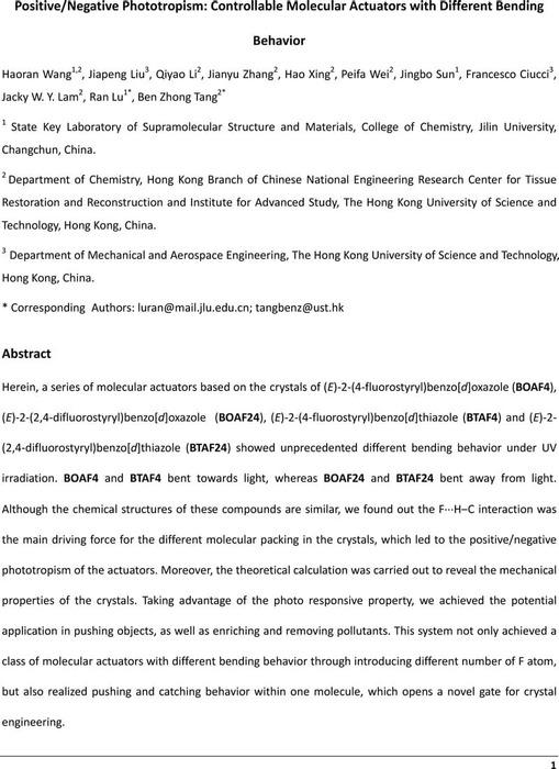 Thumbnail image of Positive Negative Phototropism Controllable Molecular Actuators with Different Bending Behavior.pdf