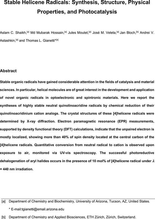Thumbnail image of Gianetti - Stable helicene Radical.pdf