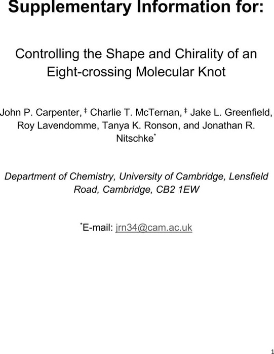 Thumbnail image of Supplementary Information - Controlling the Shape and Chirality of an Eight-crossing Molecular Knot.pdf