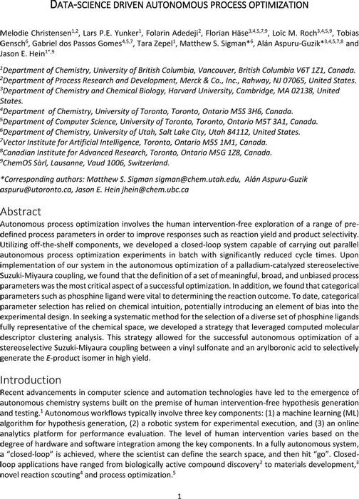 Thumbnail image of Autonomous Optimization Manuscript ChemRxiv Rev 1.pdf