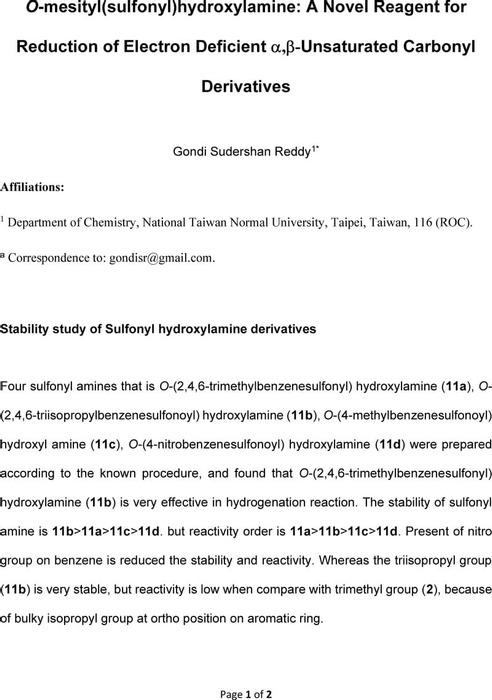 Thumbnail image of Stability study of sulfonoyl hydroxylamine derivatives.pdf