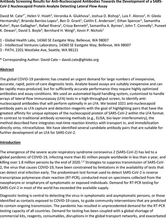 Thumbnail image of Nucleocapsid antibody screening.pdf
