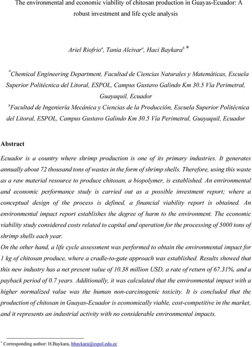 Thumbnail image of The environmental and economic viability of chitosan in Guayas.pdf
