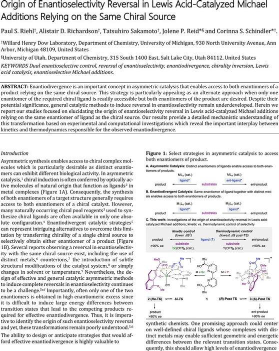 Thumbnail image of Origin of Enantioselectivity Reversal.pdf
