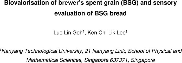 Thumbnail image of Biovalorisation of brewer's spent grain (BSG) and sensory evaluation of BSG bread.pdf