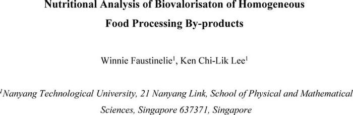 Thumbnail image of Nutritional Analysis of the Biovalorization of Homogeneous Food Waste.pdf
