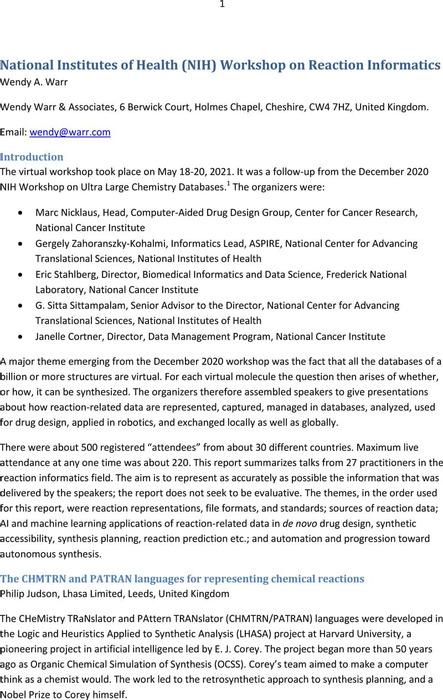 Thumbnail image of NIH Workshop on Reaction Informatics.pdf